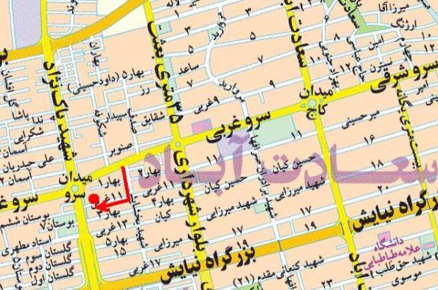 فروش آپارتمان در منطقه سعادت آباد تهران