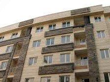 تعداد آپارتمان های موجود در گروه میان متراژ اندک است